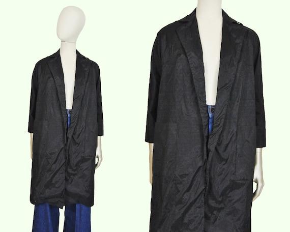80s Hanae Mori Long Open Blazer S / M