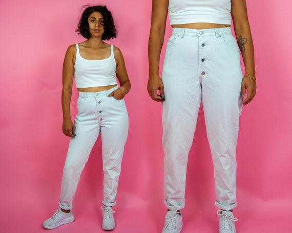 "80s High Waist Mom Jeans 32"" / L"