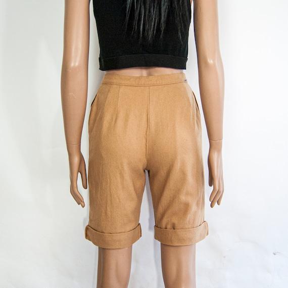 80s High Waist Wool Shorts 10 S 25 / Pendleton Wo… - image 5