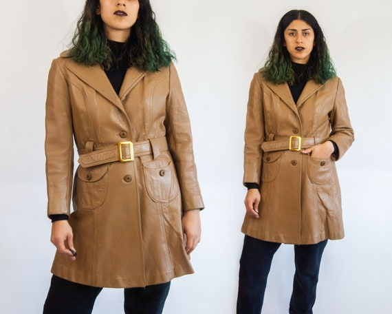 60s Leather Trench L