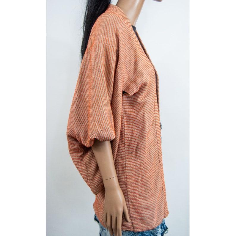 70s Striped Short Kimono XS  S