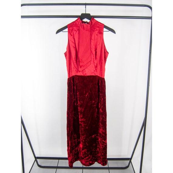 60s Red Velvet Dress and Blazer Set 11 / S small … - image 5