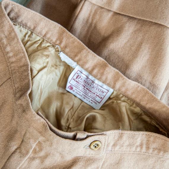 80s High Waist Wool Shorts 10 S 25 / Pendleton Wo… - image 7