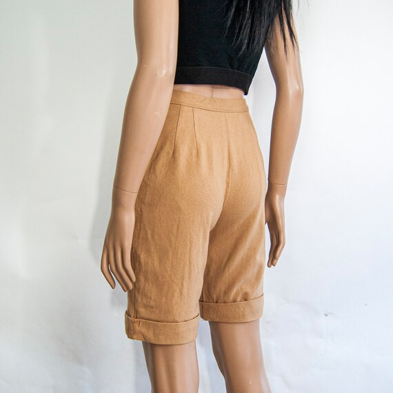 80s High Waist Wool Shorts 10 S 25 / Pendleton Wo… - image 4