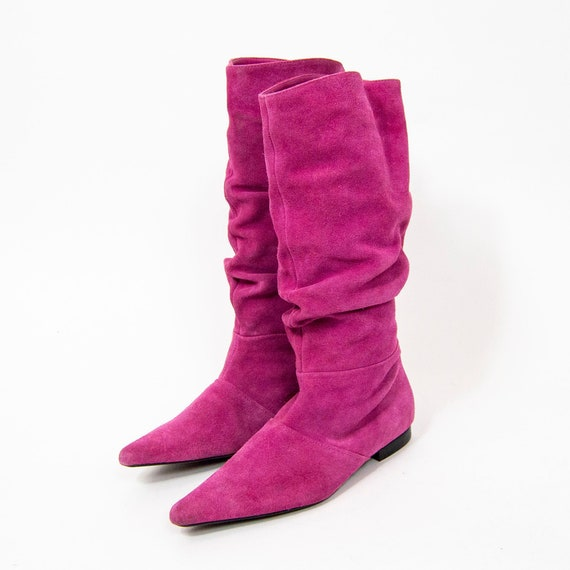 80s Hot Pink Slouchy Boots US 6.5 / EU 37