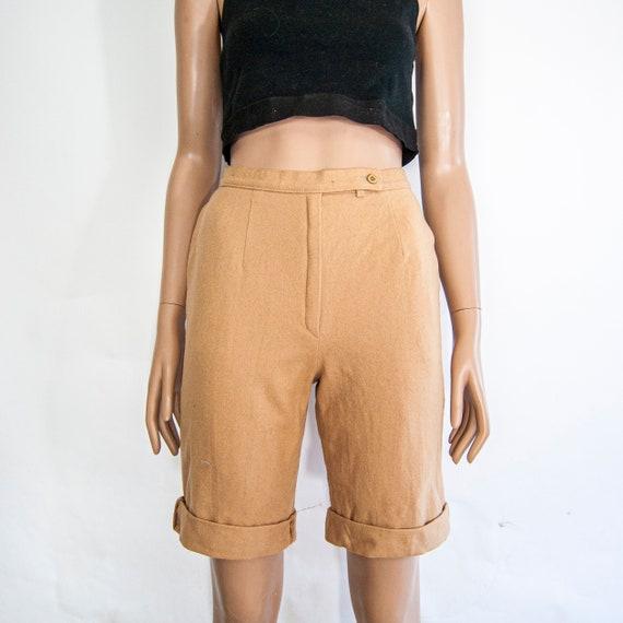 80s High Waist Wool Shorts 10 S 25 / Pendleton Wo… - image 2