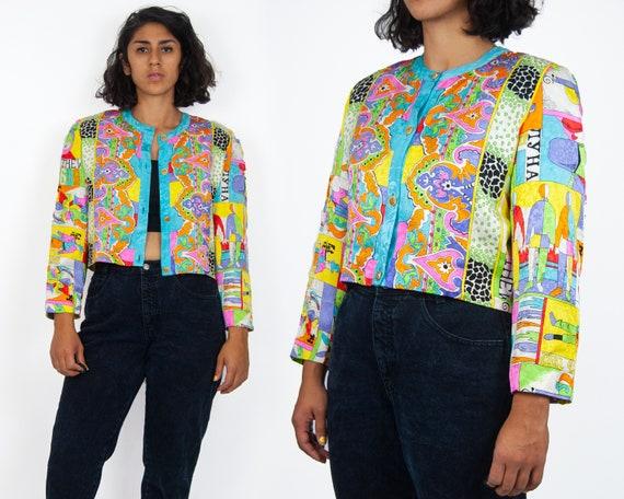 80s Diane Freis Cropped Jacket M-L