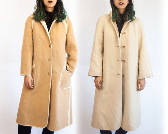 70s Reversible Wool Trench L