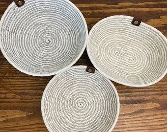 Cotton Rope Baskets / Coaster Baskets
