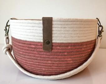 Small Rope Bucket/Terra Cotta Color