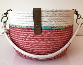 Small Pink Rope Bucket