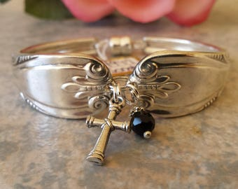 "Spoon Bracelet, Original 1947 ""Sonata"" pattern,Vintage Silverplate, all sizes available"