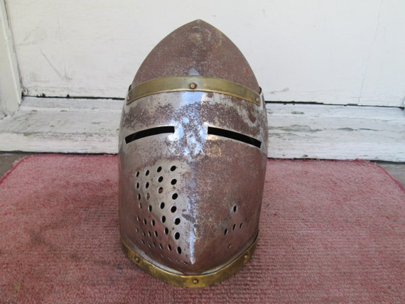 1950's or 60's Metal and Brass MEDIEVAL Knight in