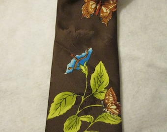 1950's or 1960's Brown BUTTERFLY NECKTIE by Made in California