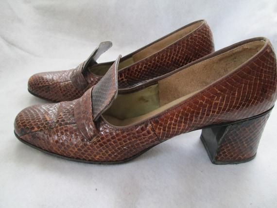 1960's Brown COBRA Shoes by MINIKINS