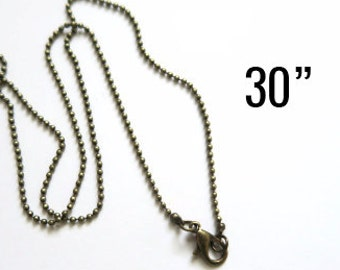 Bronze Ball Chain with Clasp 46/cm