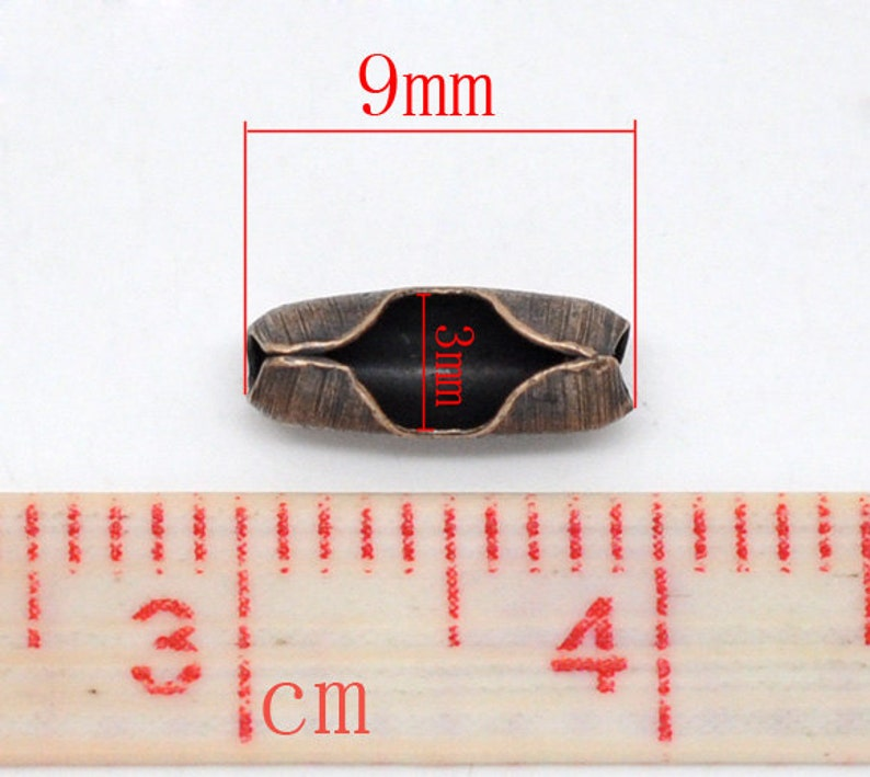 Antique Copper 9x3mm FC47a 3mm for Ball Chains Ships IMMEDIATELY from California BULK 500 Clasps 2.4mm