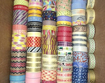 SALE 10 Washi Tapes - 15mm x 10m - Assorted But You Can Request