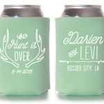 Custom Wedding Favor - The Hunt is Over Can Coolers