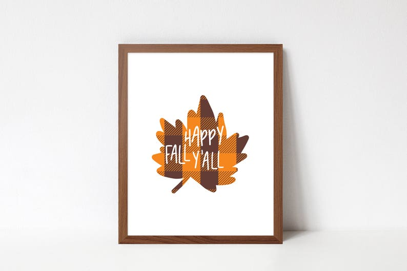 Happy Fall Y'all Art Print 8.5x11  Happy Fall image 0