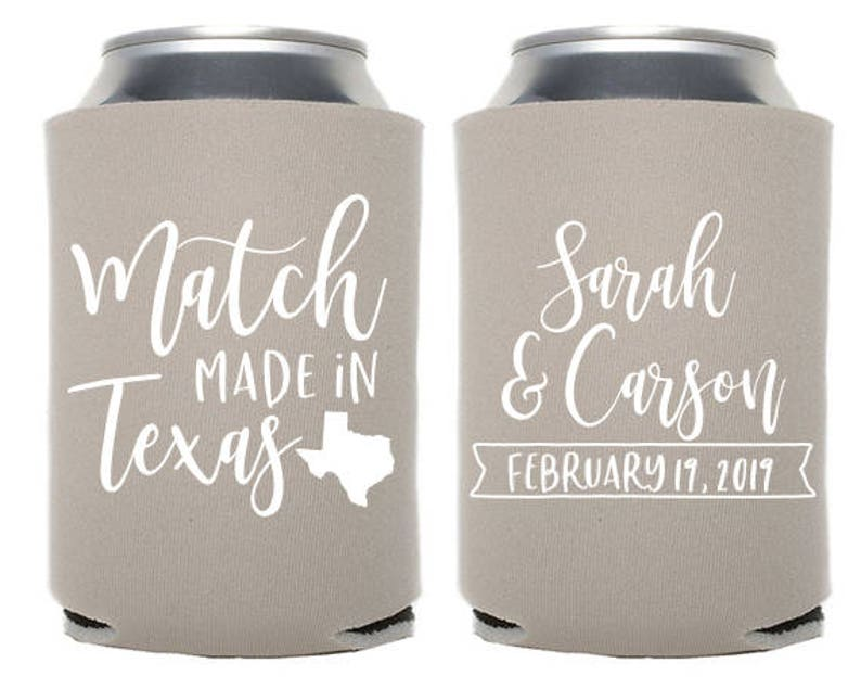 Custom Wedding Favor  Match Made in Texas  Match Made in Any image 0