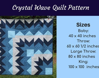 King Quilt Pattern Etsy