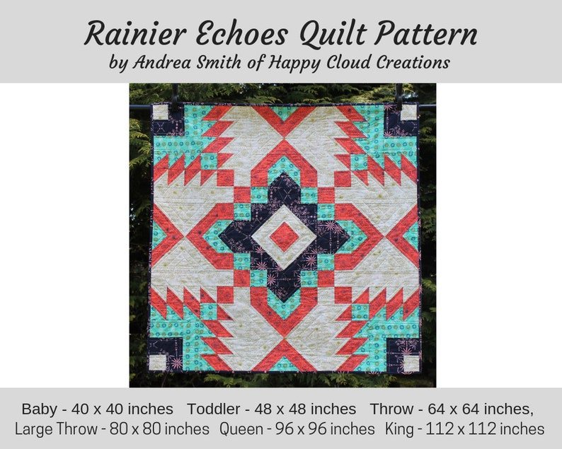 DIGITAL PDF Rainier Echoes Quilt Pattern Baby Toddler image 0