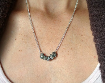 Dainty Pyrite Necklace