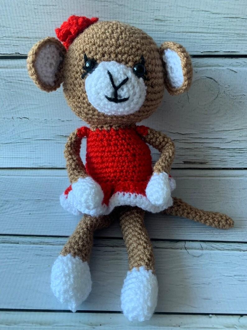 Stuffed crochet monkey
