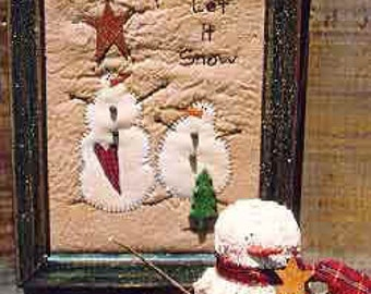The Country Cupboard Old Man Winter Snowman Doll and Stitchery Folk Art Craft Sewing Pattern Home Decor