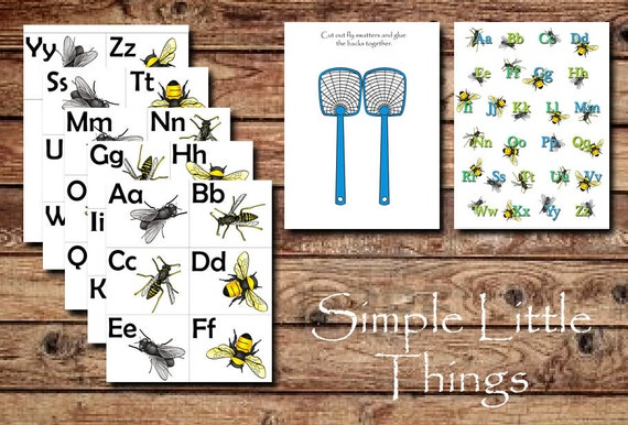 Fly Swatter ABC Activity PDF DIY printable for toddlers | Etsy