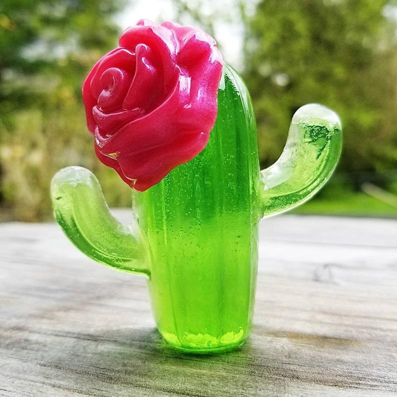 Cactus Soap  Desert Rose Cacti Soap  Succulent Soap   Gift image 0