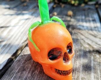 Pumpkin King Crystal Skull Soap