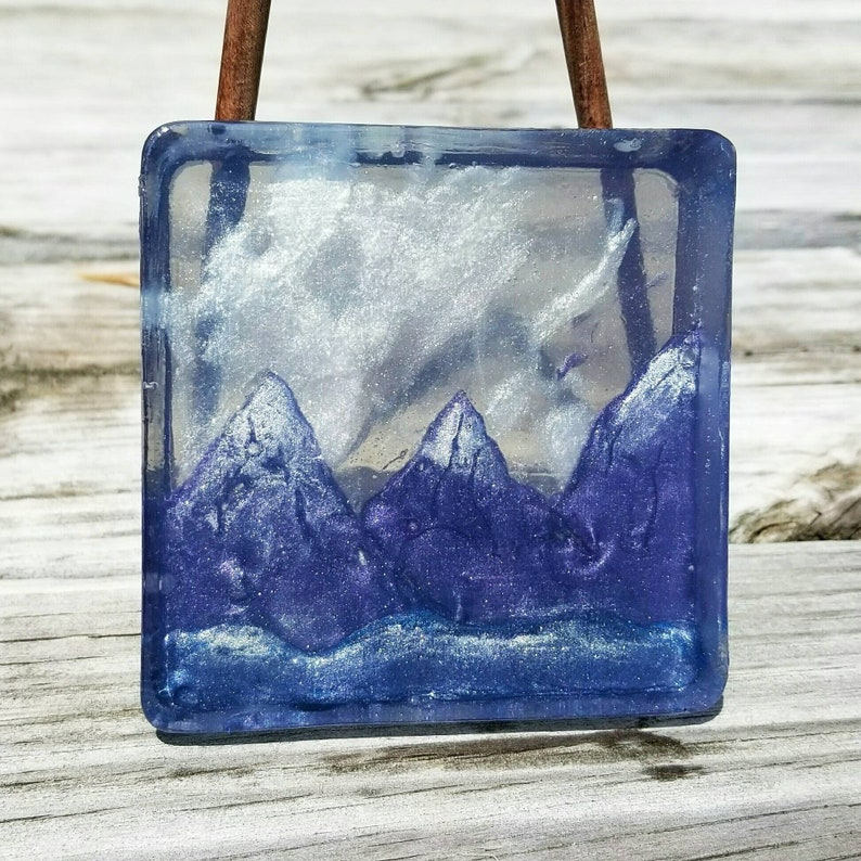 Northern Lights Glow Soaps  Handcrafted Mountain Soap  Art image 0
