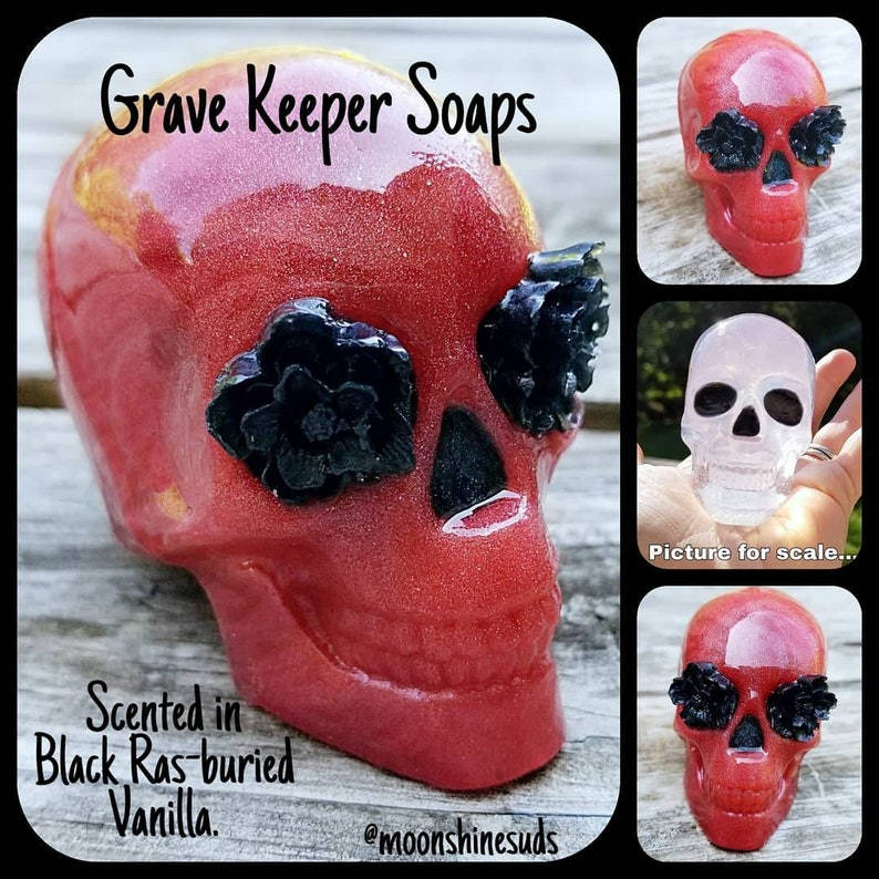 Grave Keeper Soaps  Skull Soap  Halloween Soap  Skull and image 0