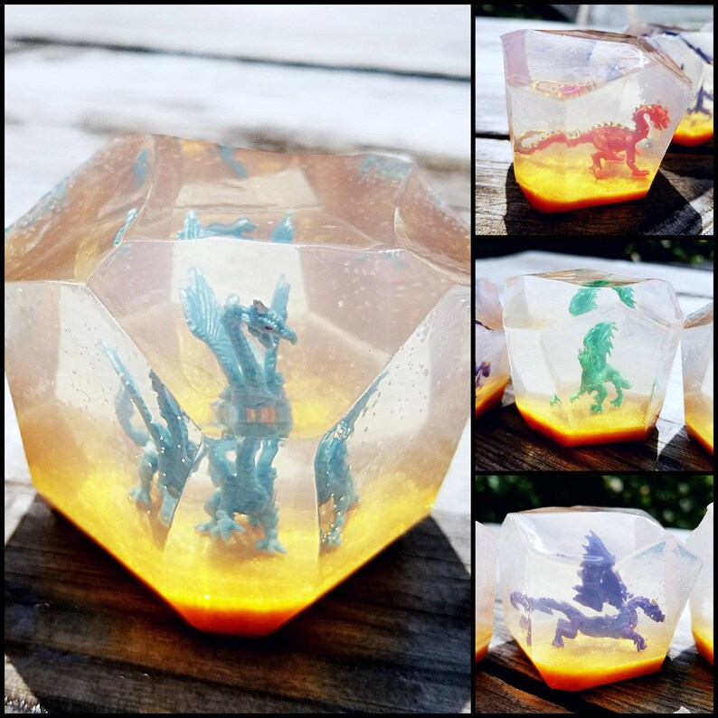 Dragon Crystal Soaps  Dragon Figure in Handmade Soap  Blue image 0