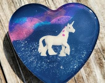 Galaxy Heart Unicorn Soap