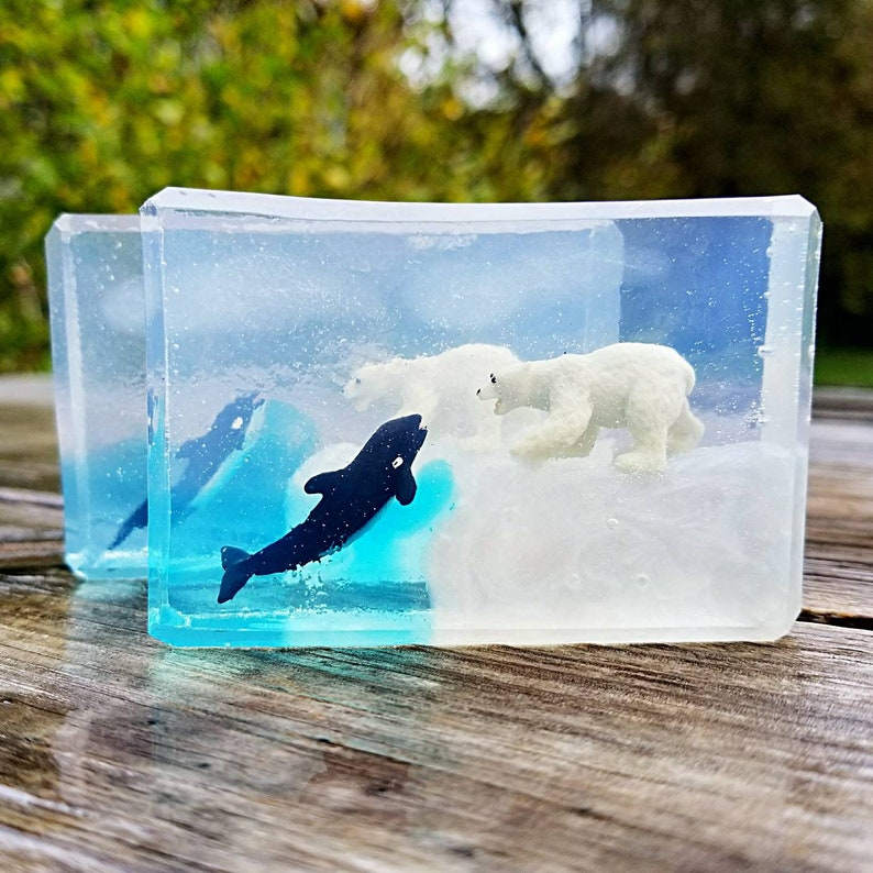 Arctic Animal Toy Soap  Wildlife  Penguin  Orca  Polar image 0