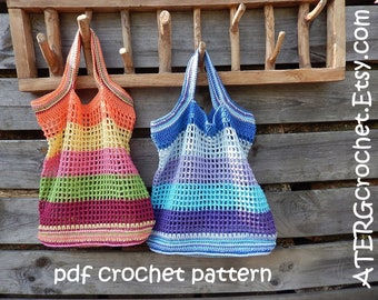 Crochet pattern MARKET TOTE BAG by ATERGcrochet