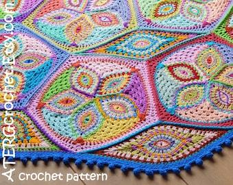 Crochet pattern KALEIDOSCOPE blanket by ATERGcrochet