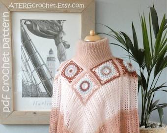 Crochet pattern PONCHO by ATERcrochet