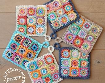 Crochet pattern POTHOLDER SQUARES by ATERGcrochet