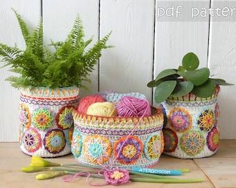 Crochet pattern Happy Plant Pots by ATERGcrochet