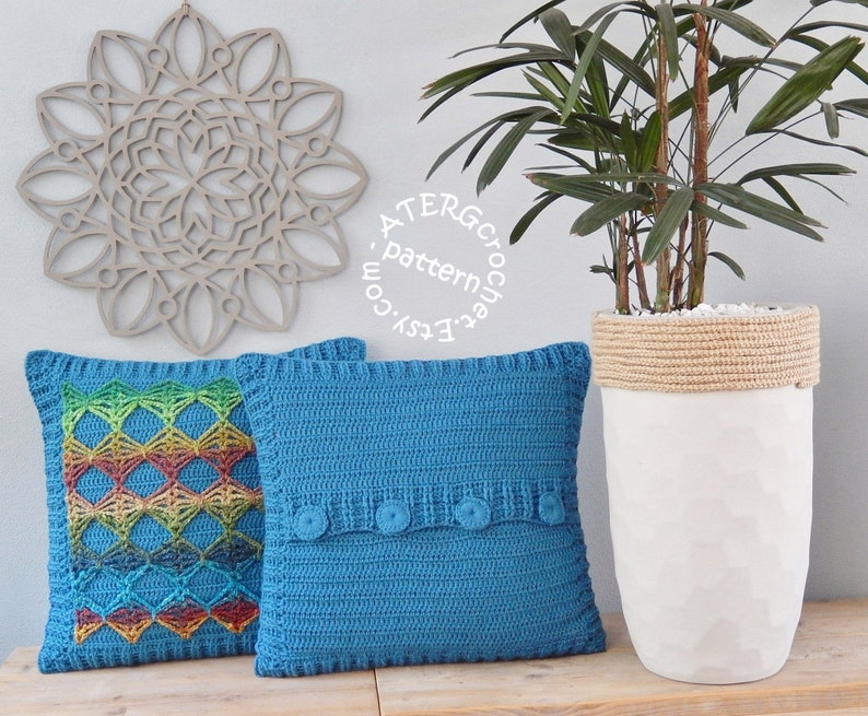 Crochet pattern CUSHION COVER by ATERGcrochet image 0