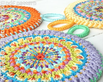 Crochet pattern BOHO POTHOLDER by ATERGcrochet