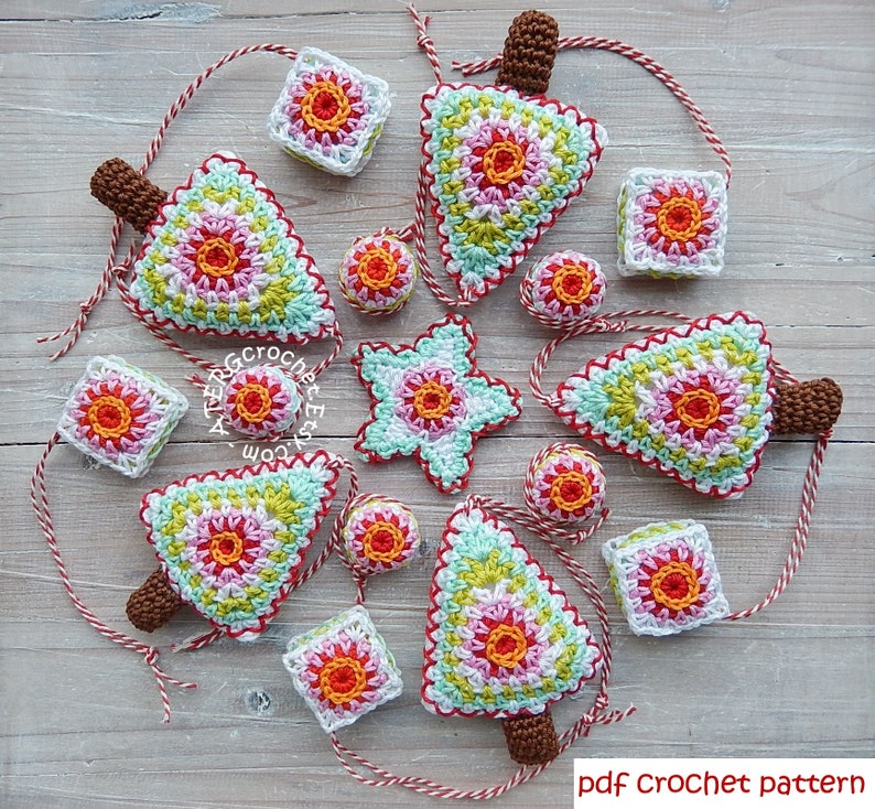 Crochet pattern Christmas set by ATERGcrochet image 0
