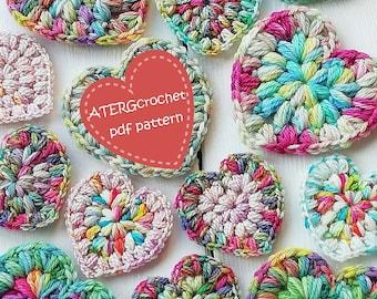 Crochet pattern PUFF STITCH HEART by ATERGcrochet