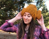 Knit Turkey Leg Hat - 4 Sizes Available - Adults, Kids, Toddler, Baby - Beanie Toque Turkey Trot
