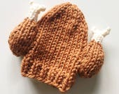 PATTERN: Knit Turkey Leg Hat Beanie Toque for Adults Kids, and Baby Turkey Trot