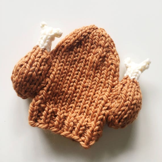 Pattern Knit Turkey Leg Hat Beanie Toque For Adults Kids And Etsy